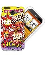 Etui de créateur pour HTC One X - Etui / Coque / Housse de protection en TPU/gel/silicone avec motif bande dessinée