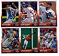 2015 Topps Baseball Cards Boston Red Sox Complete Master Team Set (Series 1 & 2 + Update - 36 Cards) With Bryce Brentz, Dustin Pedroia, Daniel Nava, Yoenis Cespedes, Mike Napoli, Edward Mujica, Clay Buchholz, Anthony Ranaudo, Jackie Bradley Jr.