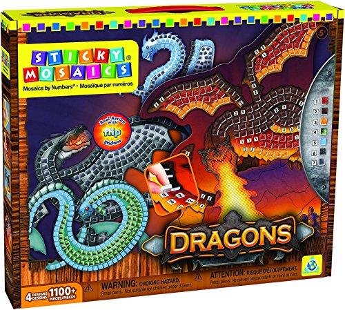 ORB Factory ORB06224 - Juego de mosaicos adhesivos, diseño de dragones