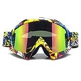 Zdatt Professional Adult Motocross Goggles Dirtbike ATV Motorcycle Gafas UV Protection Motorbike Ski Snowboard Goggles (Color: Z174 New01, Tamaño: 1)