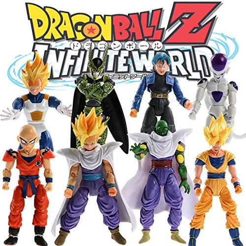 QJ Lot 8pcs Dragonball Z Dragon Ball DBZ Joint Movable Action Figure Toy Set Anime (Dbz Figure Lot compare prices)