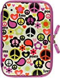 NeoSkin Kindle Fire Zip Sleeve, Peace Out (Fits Kindle Fire, Kindle Keyboard, Neoprene Kindle Cover, Kindle Case)