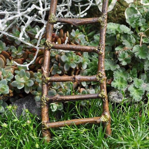 Miniature Fairy Garden Mossy Twig Ladder bp 3 home garden