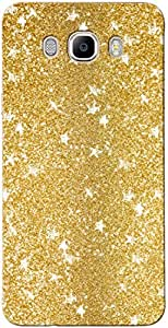 Novo Style Luxury Fashion Bling Sparkling Glitter Soft Back Cover Case For Samsung Galaxy j7 2016- Dark Golden