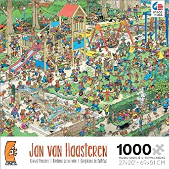 The Playground Jigsaw Puzzle, 1000 Piece by Jan van Haasteren