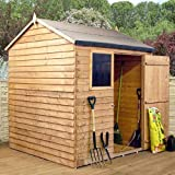 8ft x 6ft Reverse Overlap Apex Wooden Storage Shed - Brand New 8x6 Wood Sheds