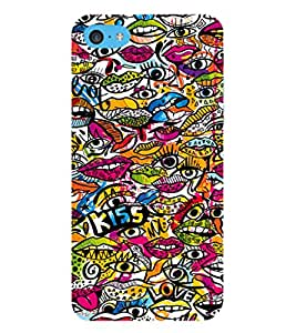 EPICCASE Kiss Pattern Mobile Back Case Cover For Apple iPod Touch 6 (Designer Case)