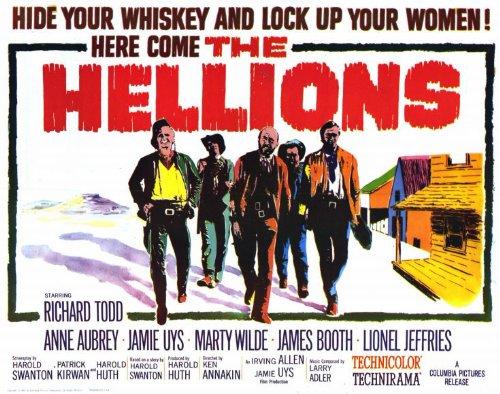 The Hellions Poster Film B 11 x 14 cm, 28 x 36 cm