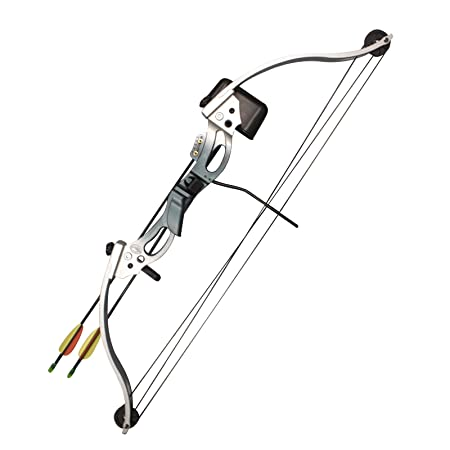 Southland Archery Supply SAS 18-28 lbs Youth Compound Bow Set - Silver/Blue RH