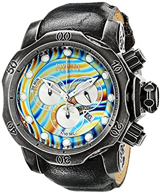 Invicta Men's 15958 Venom Analog Display Swiss Quartz Black Watch