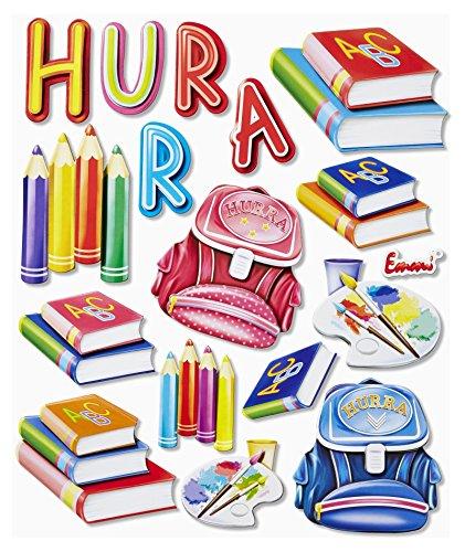 Stickerkoenig-3D-Sticker-XXL-Wandtattoo-Kinderzimmer-Wandsticker-Schule-Set-558-Schulanfang-Schreibtisch-Deko-Schultte