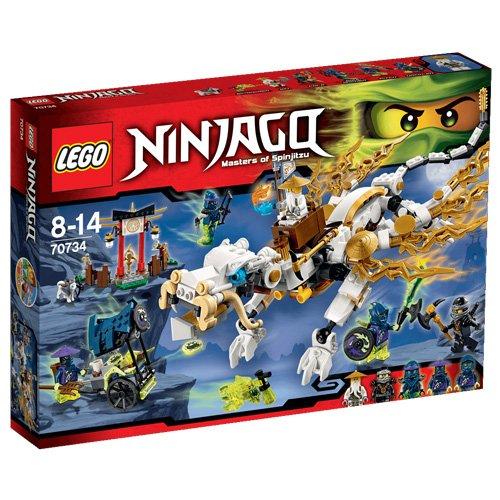 LEGO Ninjago - 70734 - Playthèmes - Jeu de Construction - Le Dragon de Maître Wu