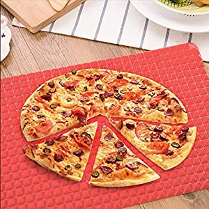 Dioso Outdoor Silicone Heat-Resistant BBQ Mat/Baking Mat/Baking sheet - Multipurpose Bakeware/Ovenware/Pyramid Pan/Microwave ovenware, Red