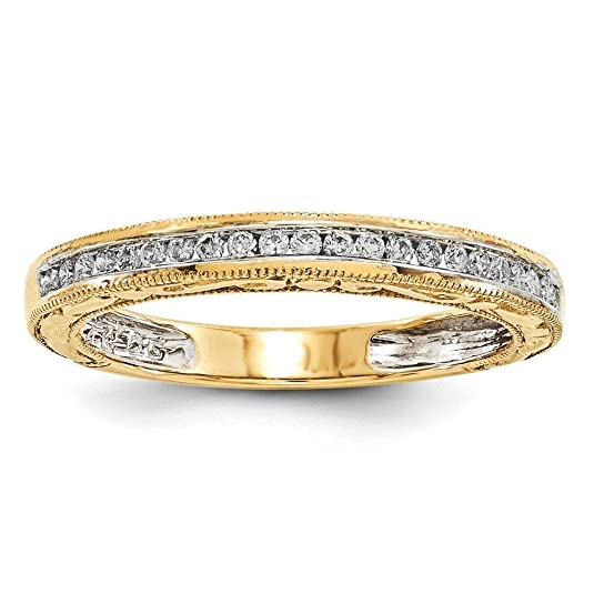 14ct Yellow Gold Diamond Wedding Band Ring