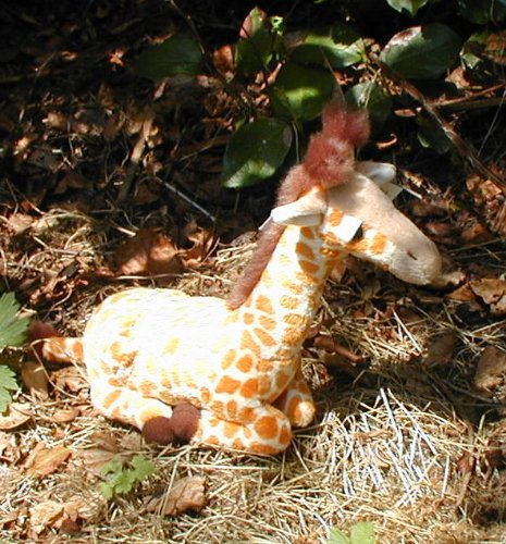 "7"" Plush Toy Giraffe from Wildlife Artists"