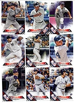2016 Topps Baseball Series 1 New York Yankees Team Set of 14 Cards (SEALED): Brian McCann(#28), Chris Young(#72), Brett Gardner(#116), CC Sabathia(#142), New York Yankees(#155), Jacoby Ellsbury(#167), Nathan Eovaldi(#168), Rob Refsnyder(#178), Greg Bird(#