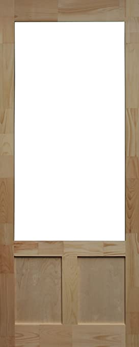 Kimberly Bay Elmwood Finger-Jointed Pine Screen Door 34 In. X 80 In. Natural Wood