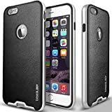 iPhone 6 case, Caseology [Envoy Series] [Charcoal Black] Premium Leather Bumper Cover [Leather Textured] Apple iPhone 6 case