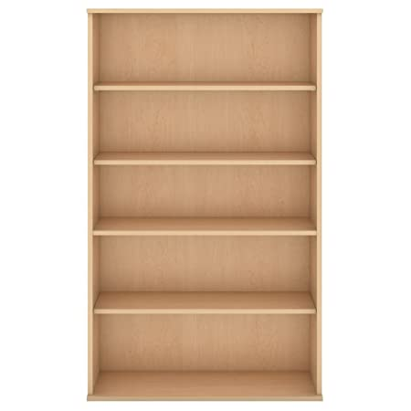 "Bush Business Furniture BBF 5 Shelf Bookcase, 66"", Natural Maple"