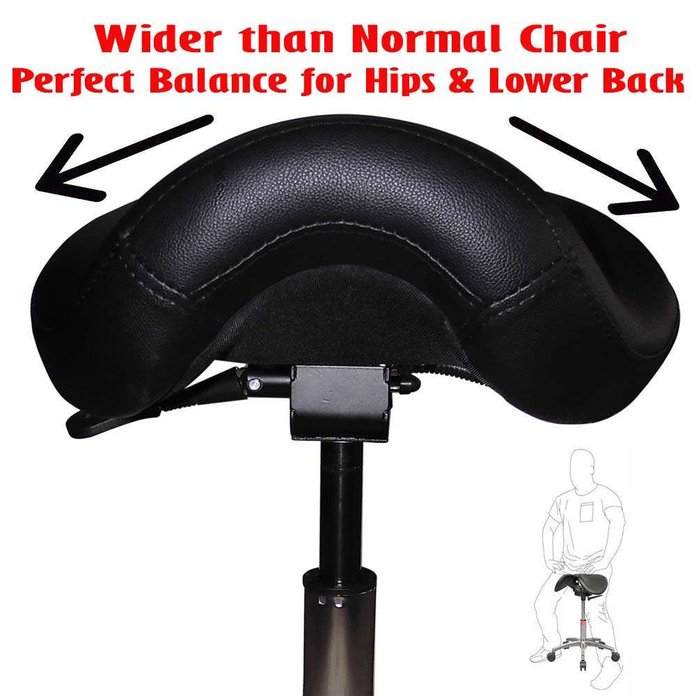 2xhome - Ergonomic Adjustable Rolling Saddle 