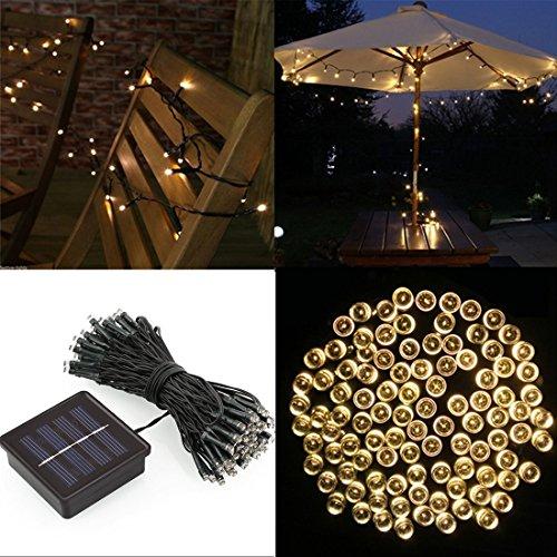 salcar 12 meter solar led lichterkette 100 leds deko beleuchtung f r weihnachten party festen 2. Black Bedroom Furniture Sets. Home Design Ideas