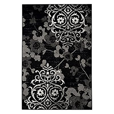 Safavieh Adirondack Collection ADR114A Black and Silver Area Rug