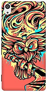 The Racoon Lean Hockey Owl hard plastic printed back case/cover for Sony Xperia Z3
