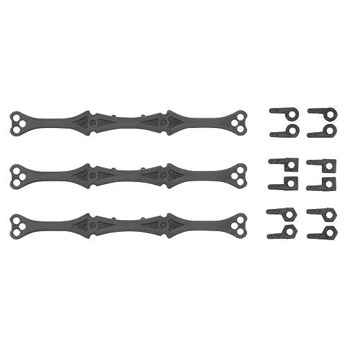 ミニ四駆限定 ローラー角度調整プレートセット (カーボン強化) 94729