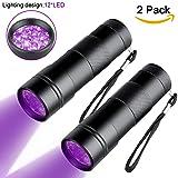 Black Light UV Flashlights,Goldenguy Blacklight Pets Urine and Stains Detector,395 nm 12 LED Ultraviolet Blacklights for Dog&Cat Urine Bed Bug (2 Pack