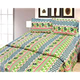 Cosmosgalaxy Cotton Double Bedsheet With Pillow Covers - Queen Size, Multicolor - B00SWKPPQY