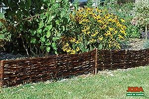 10x steckzaun aus weide 120 x 25cm gartenzaun holz zaun. Black Bedroom Furniture Sets. Home Design Ideas