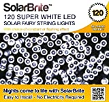 Solar Brite Deluxe Solar Fairy Lights 120 Super Bright White LED Decorative String, choice of light effect. Ideal for Trees, Gardens, Parties & More...