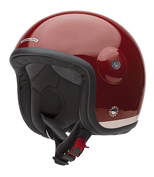 Tucano urbano 1100487 eL'fibreglass mET casque double usage, with or without visor, laqué rouge, taille xXL