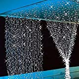 Aogist Curtain Lights 304led 9.8*9.8ft White Christmas String Fairy Wedding Led for Home, Garden, Holiday Party Outdoor Wall Kitchen Bathroom Window Decorations