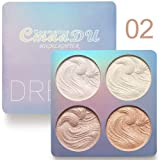Highlighter Palette,Cmaadu Highlighter Makeup Palette, Glow Bronzer Highlighter Powder Kit (2) (Color: 2)