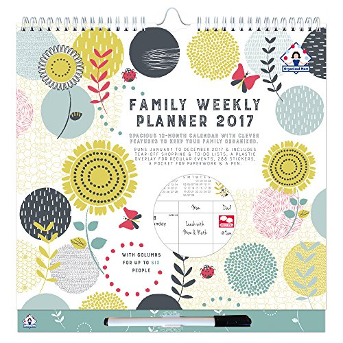 2017 Organized Mom Family Weekly Planner. Week-to-view family ...