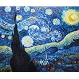 """Art Reproduction Oil Painting - Starry Night - Classic 20"""" X 24"""" - Hand Painted Canvas Art"""