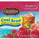 Celestial Seasonings Raspberry Cool Brew Iced Tea, 40 Count (Pack of 6)