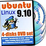 Ubuntu 9.10, 4-disks DVD Installation and Reference Set