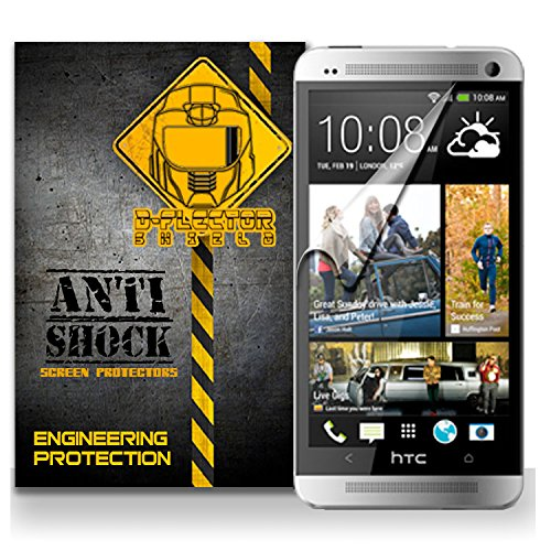 D-Flectorshield Htc One M7 Anti-Shock/Military Grade/ Tpu /Premium Screen Protector / Self Healing / Oleophobic Material / Ez Install / Ultra High Definition / Scratch Proof / Bubble Free Install / Precise Laser Cuts front-453791