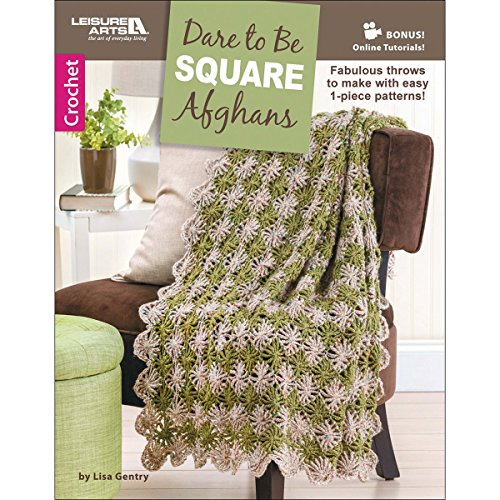 [해외]레저 예술 6656 광장 아프간 예술 작업 감히/Leisure Arts 6656 Dare To Be Square Afghans Art Work