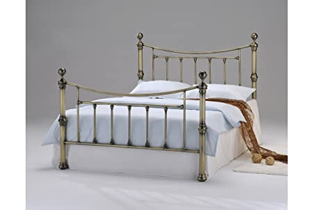 Stratford Luxury Modern Victorian Antiqued Metal Brass Style Bed Frame- (Double 4FT6) by Sleep Design