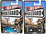 Pacer & Demon Hot Wheels Boulevard 2 Car Set - Double Demon Show Rod & AMC Packin' Pacer Underdogs cars Real Rider Tires in PROTECTIVE CASES