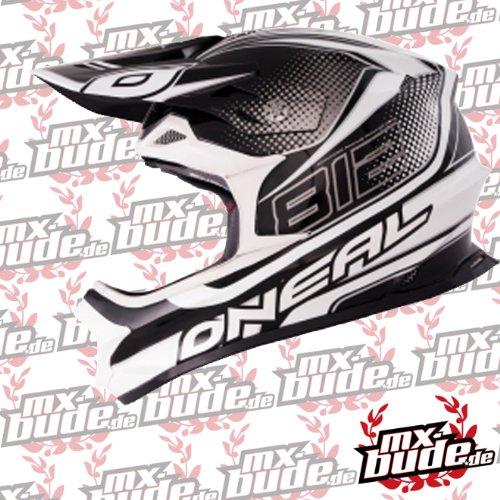 O'neal 812 Motocross Enduro MTB Helm weiss/schwarz Oneal: Größe: XXL (64-65 cm)
