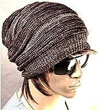 【Hi-Hi-World】 ニット帽 シルエットがきれい メンズ レディース ニットキャップ スノボ などにも