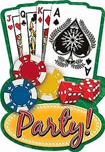 Amscan Casino Night Invitations w/ Envelopes