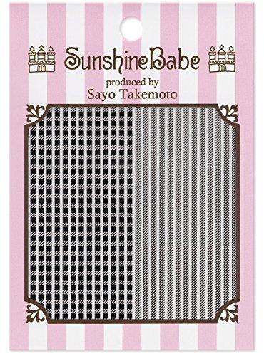 SunshineBabe ネイルシール シェパードチェック ブラック 1.5mm