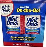 Wet Ones Travel Packs Fresch Scent 10 Packs, 200 Wipes
