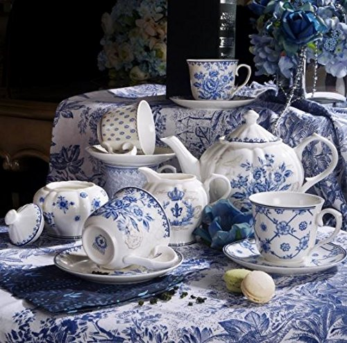 Buy Bargain 11-piece China Tea Set (Blue Dream)