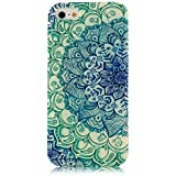 iPhone 5 Case, JAHOLAN Green Totem Flower Clear Bumper TPU Soft Case Rubber Silicone Skin Cover for iphone 5S 5